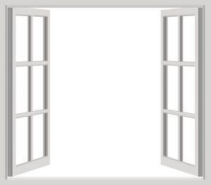 moderna fönster - grå färg